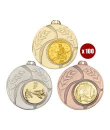 Pack de 100 Médailles 8344 ø50mm