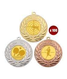 Pack de 100 Médailles 8343 ø50mm