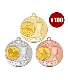 Pack de 100 Médailles 8239 ø50mm