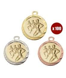 Pack de 100 Médailles avec pastilles 8229 ø32mm