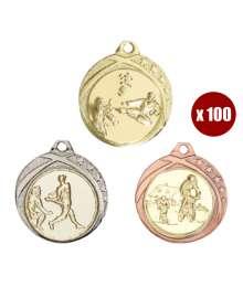 Pack de 100 Médailles avec pastilles 8232 ø32mm