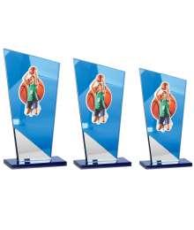 Trophées Verre BASKETBALL FEMME 4003 MJ - 4004 MJ - 4005 MJ