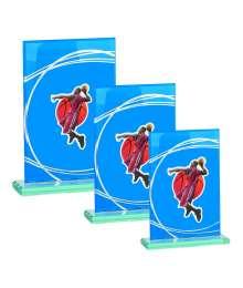 Trophées Verre BASKET HOMME 4018 MJ - 4019 MJ - 4020 MJ
