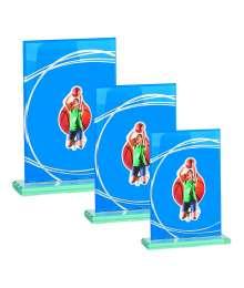 Trophées Verre BASKET FEMME 4018 MJ - 4019 MJ - 4020 MJ