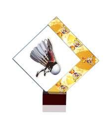 Trophées Verre BADMINTON 4024 MJ