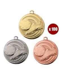 Pack de 100 Médailles Frappées Foot 7781 ø32mm