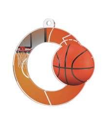Médaille Acrylique 50mm Basket - MDA0010M3