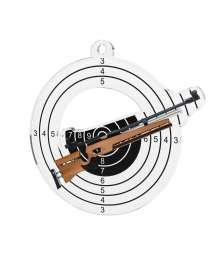 Médaille Acrylique 50mm Tir Carabine - MDA0010M25