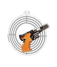 Médaille Acrylique 50mm Tir Pistolet - MDA0010M26