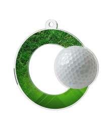 Médaille Acrylique 50mm Golf - MDA0010M39