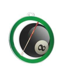 Médaille Acrylique 50mm Billard - MDA0010M70