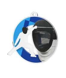 Médaille Acrylique 50mm ESCRIME- MDA0010M85