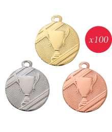 Pack de 100 Médailles Frappées Victoire 7783 ø32mm