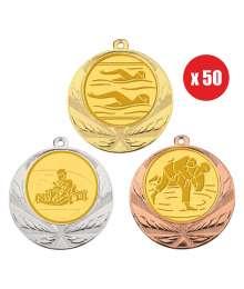 Pack de 50 Médailles 8540 ø70mm