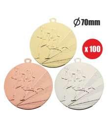 Pack de 100 Médailles Frappées Cross 7797 ø70mm