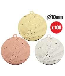 Pack de 100 Médailles Frappées Foot 7795 ø70mm