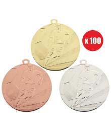 Pack de 100 Médailles Frappées Foot 7790 ø50mm