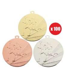 Pack de 100 Médailles Frappées Cross 7792 ø50mm