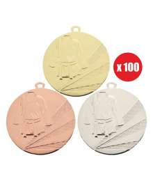 Pack de 100 Médailles Frappées sports de combats 7791 ø50mm