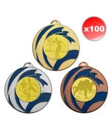 Pack de 100 Médailles bicolores ø50mm T-M525 x100