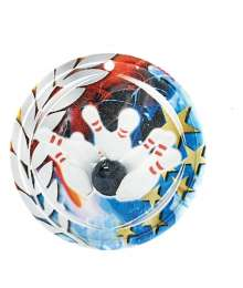 Médaille Céramique Couleurs 70mm Bowling - F-NA05