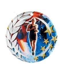 Médaille Céramique Couleurs 70mm Cross Femme - F-NA06