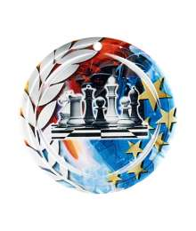 Médaille Céramique Couleurs 70mm Echecs - F-NA11