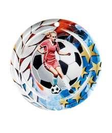 Médaille Céramique Couleurs 70mm Football Féminin - F-NA12