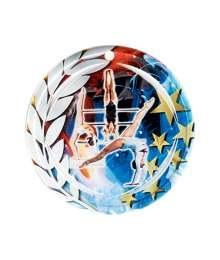 Médaille Céramique Couleurs 70mm Gymnastique Femme - F-NA15