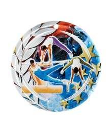 Médaille Céramique Couleurs 70mm Gymnastique Homme - F-NA16