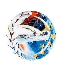 Médaille Céramique Couleurs 70mm Natation Homme- F-NA22