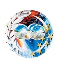 Médaille Céramique Couleurs 70mm Pétanque - F-NA23