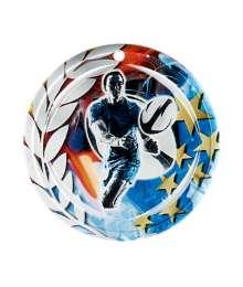 Médaille Céramique Couleurs 70mm Rugby - F-NA25