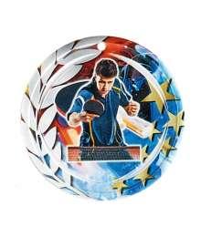 Médaille Céramique Couleurs 70mm Tennis de table- F-NA24