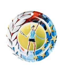 Médaille Céramique Couleurs 70mm Tennis Féminin- F-NA26