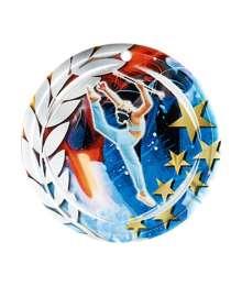 Médaille Céramique Couleurs 70mm Twirling - F-NA29