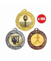 Pack de 100 Médailles ø40mm T-M445 x100