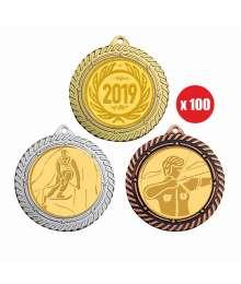 Pack de 100 Médailles ø70mm T-M792 x100