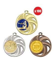 Pack de 100 médailles 40mm avec Pastille - B-8236x100