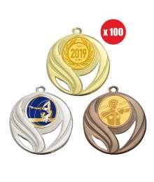 Pack de 100 médailles 50mm avec Pastille - B-8240x100
