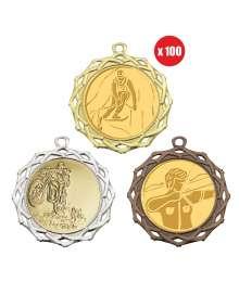 Pack de 100 médailles 70mm avec Pastille - B-8538x100