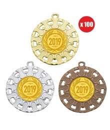 Pack de 100 médailles 50mm avec Pastille - B-8330x100