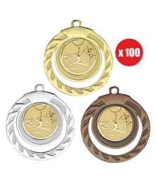 Pack de 100 médailles 50mm avec Pastille - B-8331x100