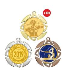 Pack de 100 médailles 70mm avec Pastille - B-8537x100