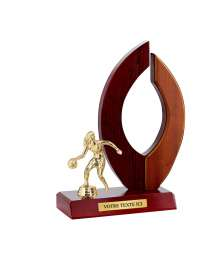 Trophée Bois Sport T-3330S Basket Femme - D83