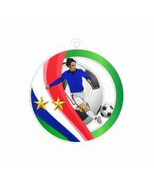 Médaille Acrylique 50mm Football 2 étoiles EXCLUSIVITE TROPHEES DIFFUSION - BA-MDA0010C