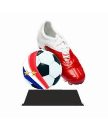 Trophée Acrylique FOOTBALL 2 étoiles EXCLUSIVITE TROPHEES DIFFUSION - BA-FA200A - BA-FA200B - BA-FA200C