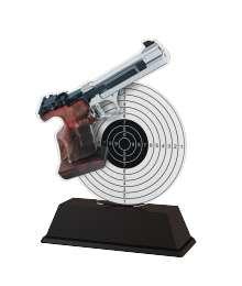 Trophée Acrylique EXCLUSIVITE Tir Pistolet - BA-FA210A-M20
