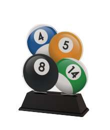 Trophée Acrylique EXCLUSIVITE Billard - BA-FA210A-M17