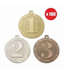 Pack de 100 Médailles Frappées 45mm Numéro - BS.ME101.01 - BS.ME102.02 - BS.ME103.27 x100
